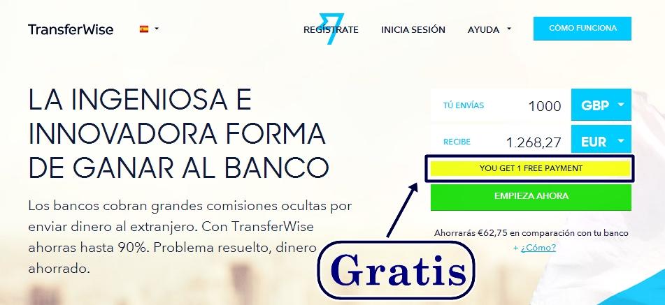 transferencias internacionales gratis con transferWise