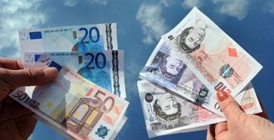 euros a libras en londres