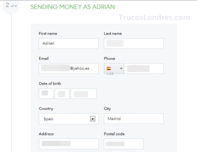enviar dinero transferwise gratis