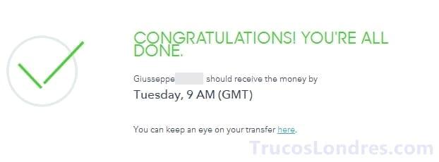 envio transferencia transferwise