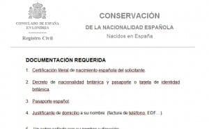 nacionalidad conservar española