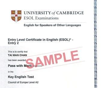 certificado ket cambridge