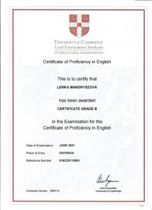 cambridge proficiency cpe