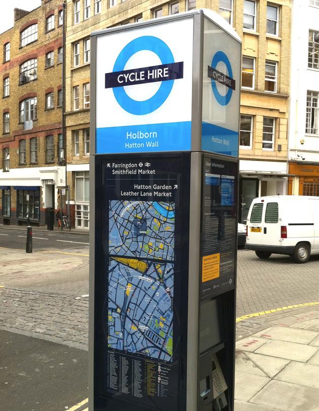 Carril bici para recorrido en bicicleta por Londres