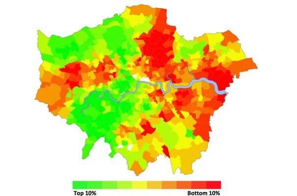 Peores barrios de Londres como hackney o limehouse