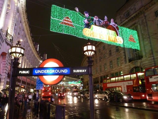 transporte en Londres en Nochevieja