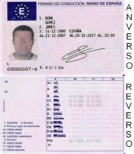 Licencia o carnet de conducir para alquilar un coche en Inglaterra