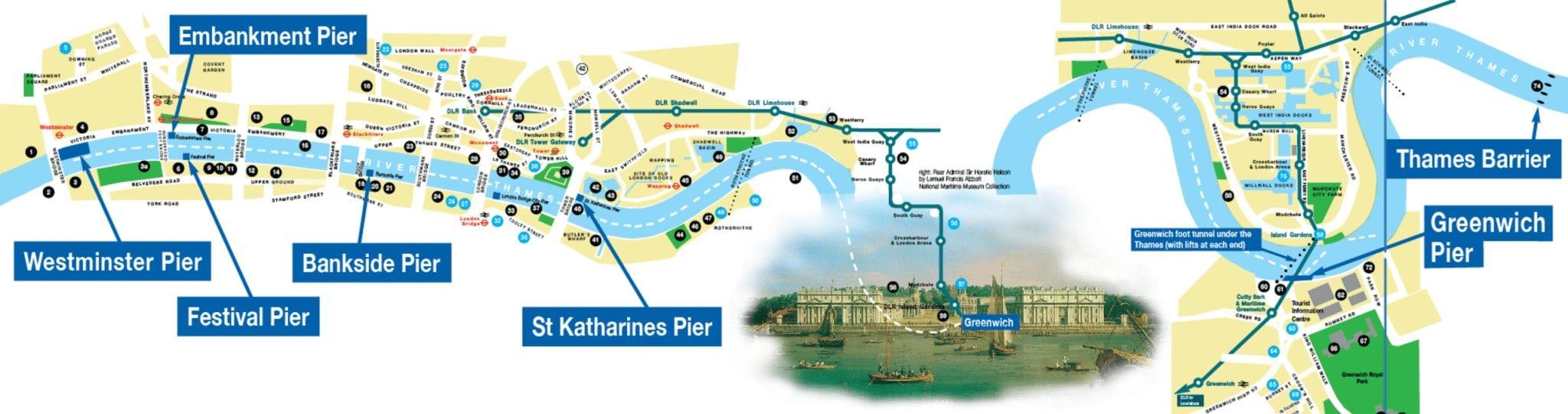 Como moverse en barco por el Támesis y Greenwich en Londres con la oyster