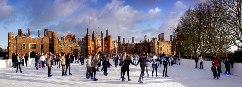Con el tiempo de Londres hacer patinaje sobre hielo