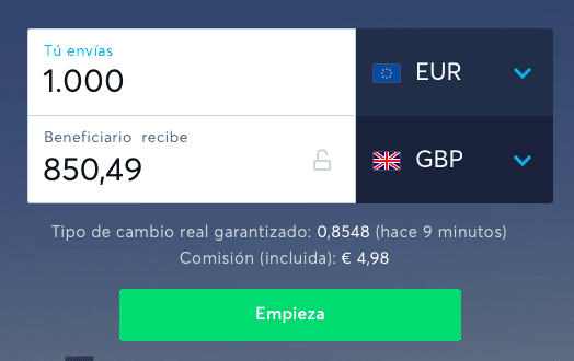 Hacer transferencia gratis con Transferwise