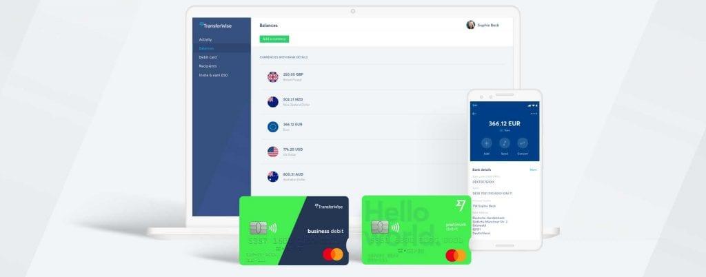 En tu balance multidivsa podrás seleccionar hasta 40 monedas para cambiar con Transferwise.