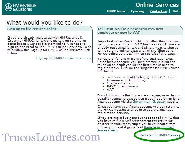 requisitos, pasos, impuestos para autónomo en Inglaterra