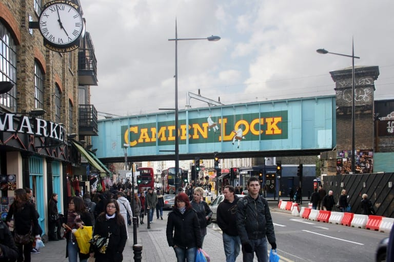 Comida y tiendas en Camden Town