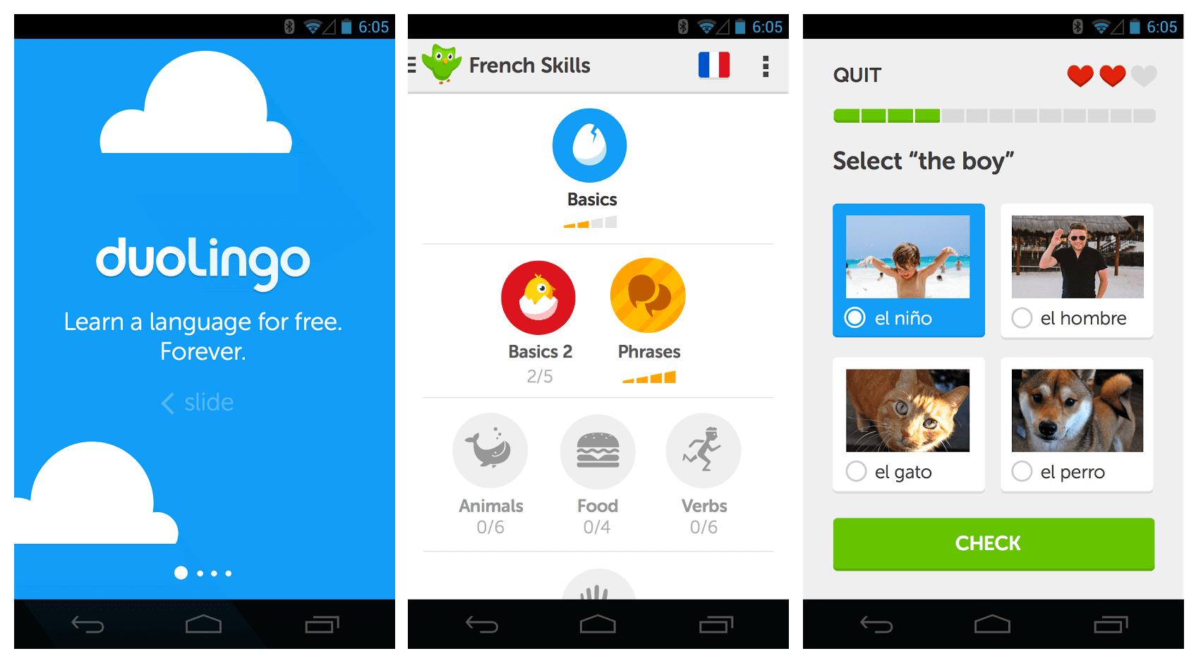 Aplicación para aprender inglés Duolingo