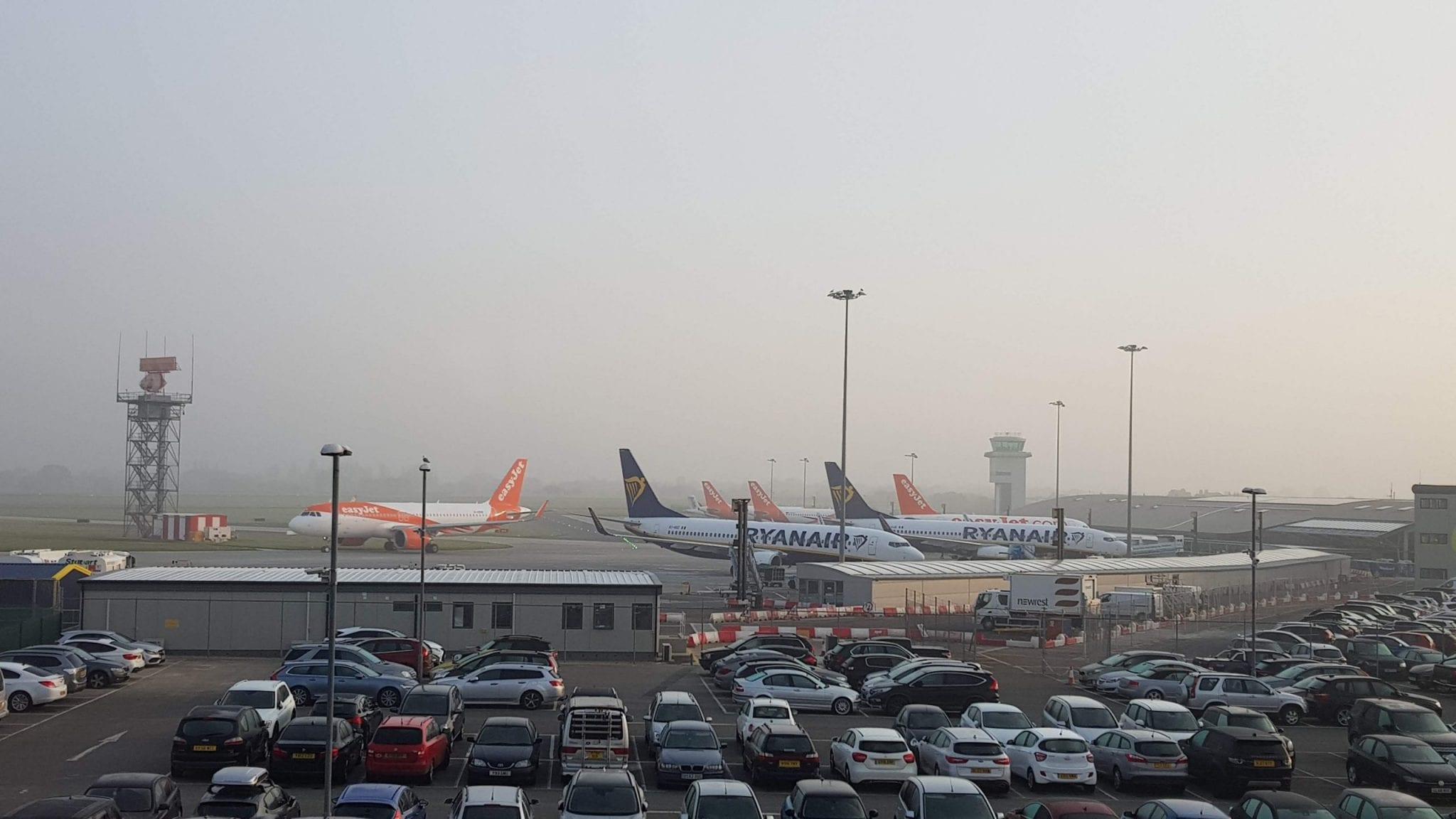 aparcamiento en el Southend Airport