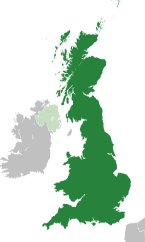 Gran Bretaña también está formada por Escocia y Gales