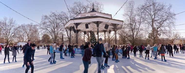 Patinaje sobre hielo en Winter Wonderland