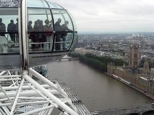 London Eye de noche y de día