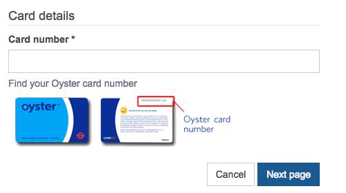 Ticket de metro con la Tarjeta Oyster Card