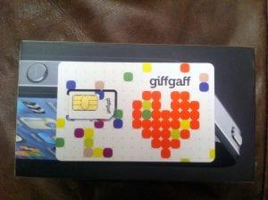 Tarjeta Giffgaff para usar móvil roaming en Reino Unido