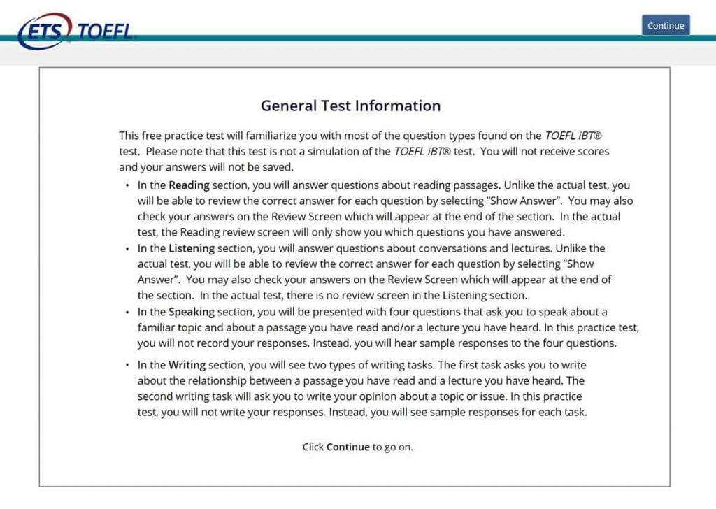 En la actualidad prácticamente solo se hace el examen TOEFL iBP
