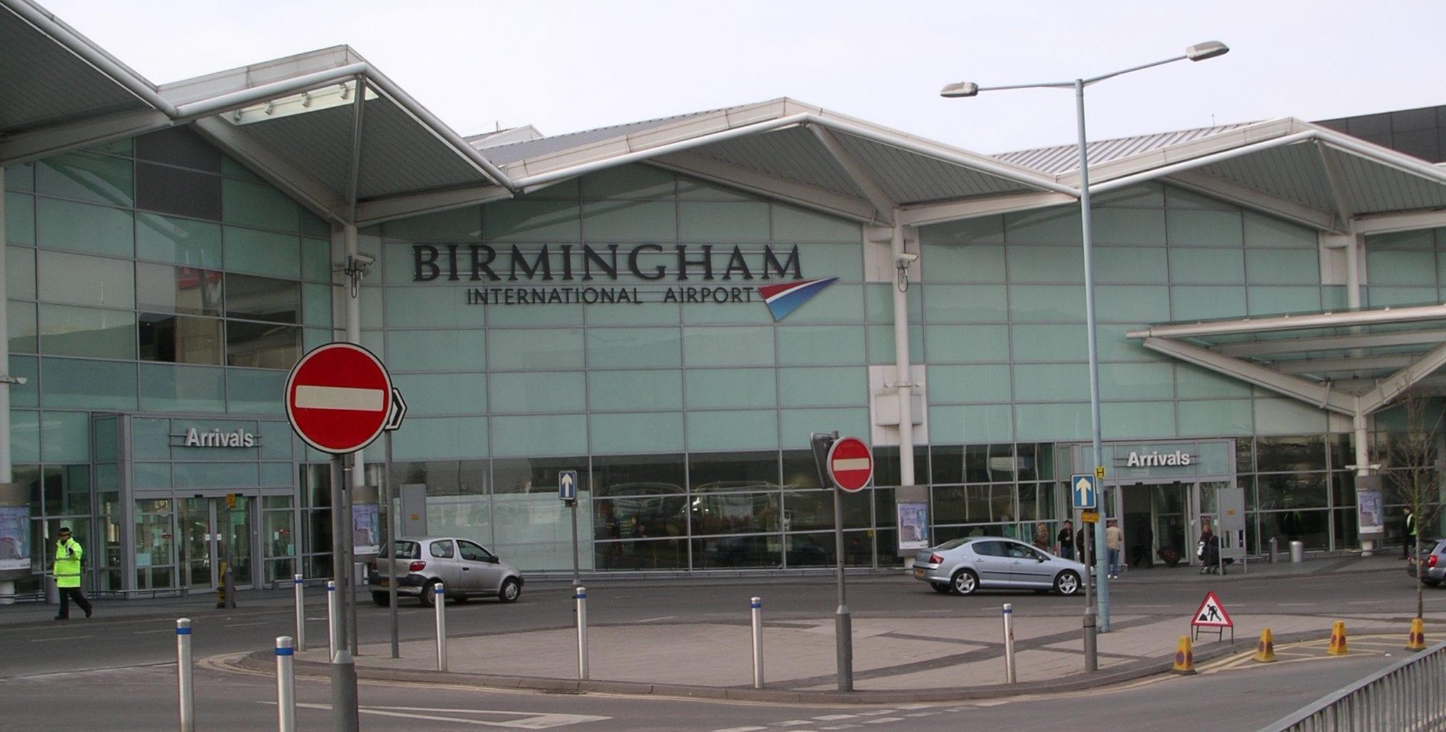 Estación para ir del aeropuerto de Birmingham al centro de la ciudad