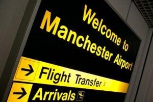 Estación del aeropuerto de Manchester para ir al centro