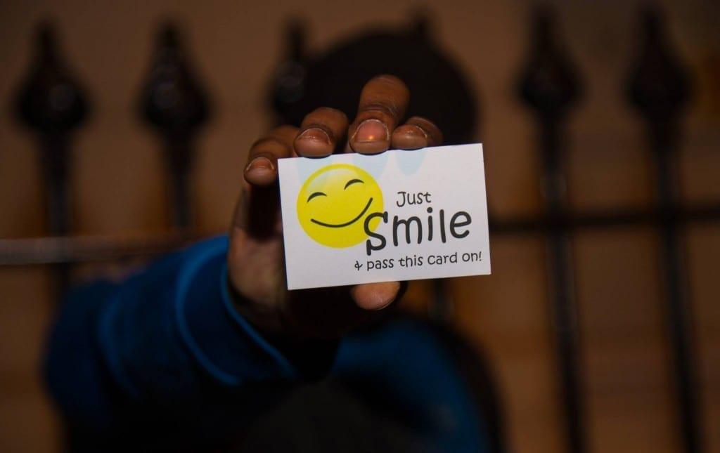 sonrisas tarjeta