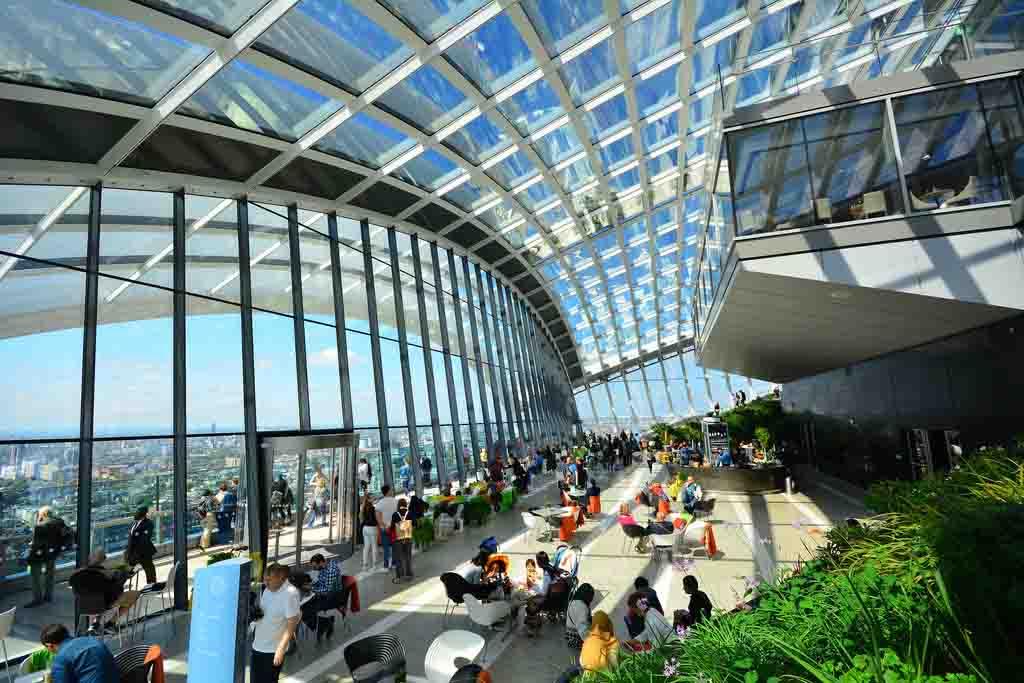 Vistas del rascacielos de Londres Sky Garden