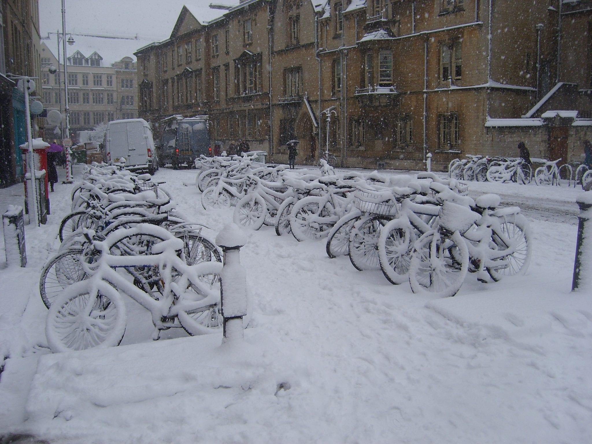 Nieve en el tiempo de Oxford