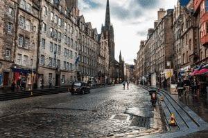 Lluvias en el tiempo de Edimburgo