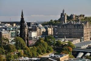 Tiempo en Edimburgo en agosto