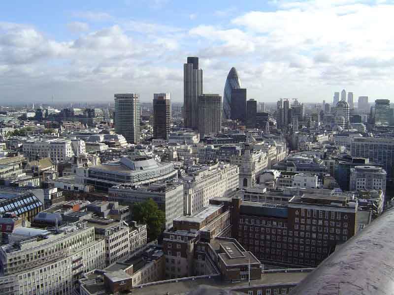 Terraza con vistas en Rascacielos de Londres