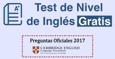 test de nivel de ingles