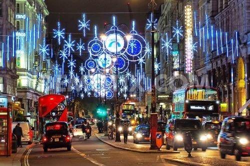 illuminazione natalizia a Londra