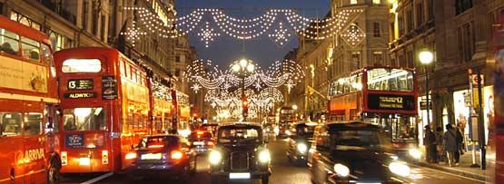 transporte Londres en Navidad