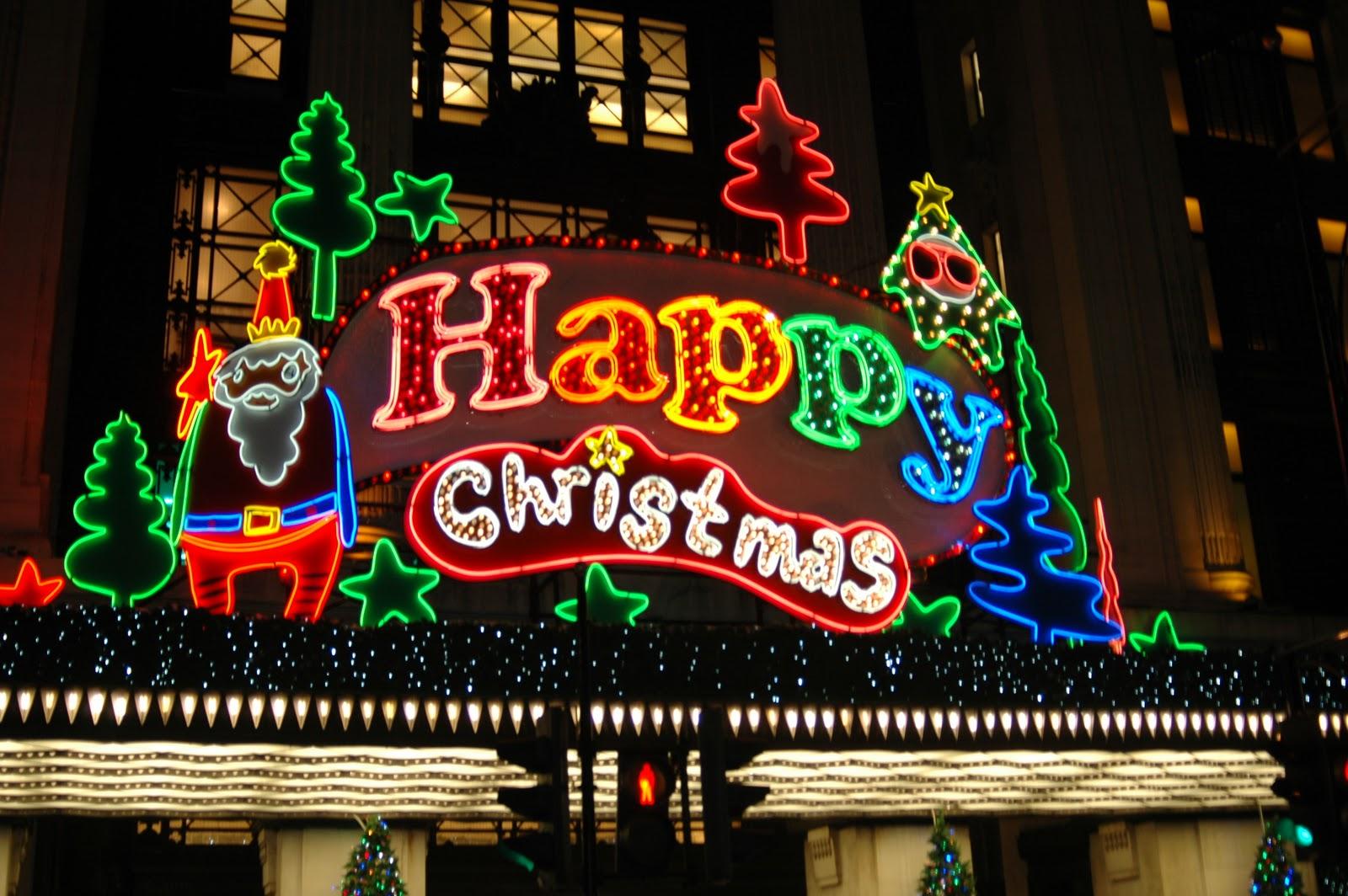 Calles adornadas en Londres por Navidad