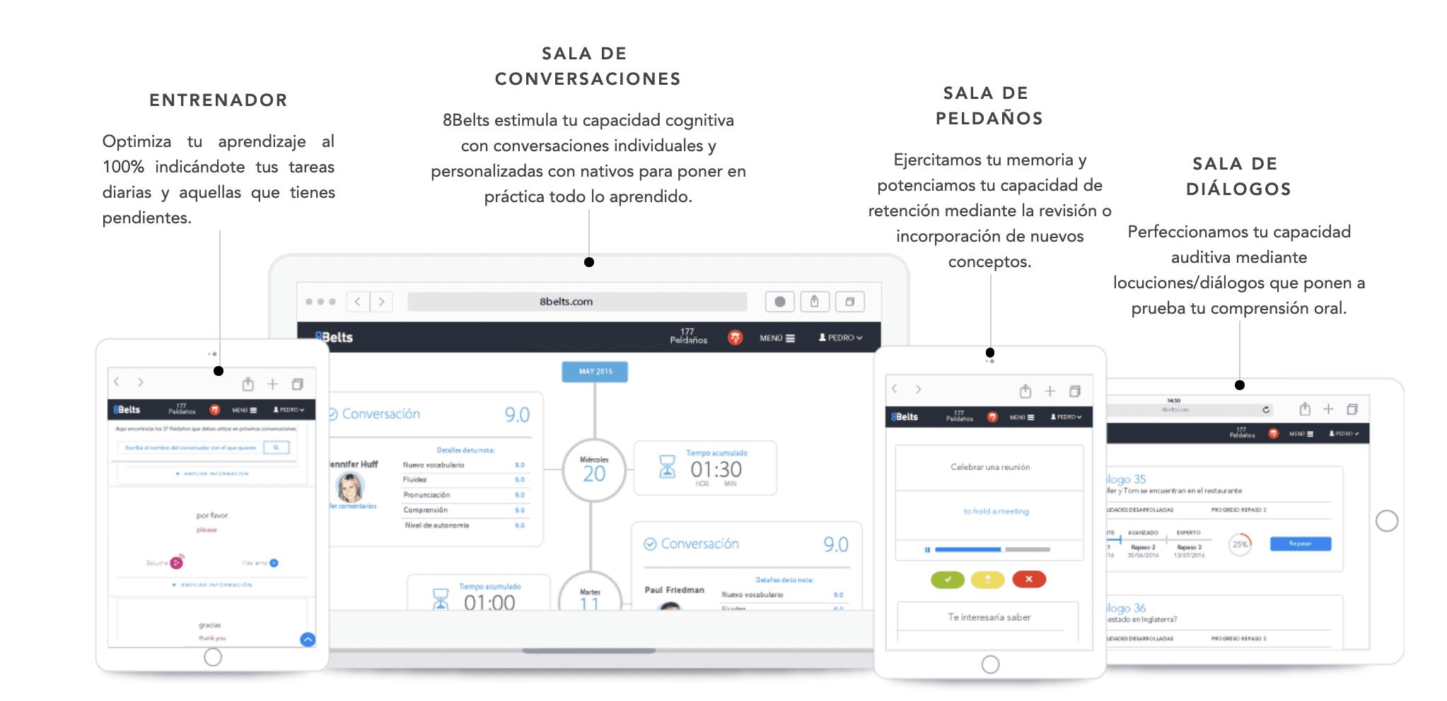8Belts es una plataforma de estudio online