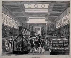 Primera sala egipcia del British Museum