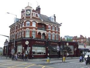 Famous 3 Kings. pub en west kensington