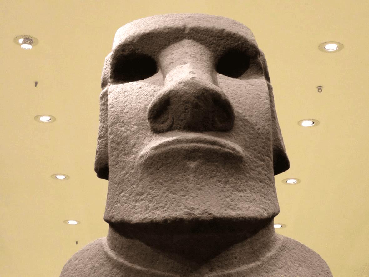 Escultura de la isla de Pascua