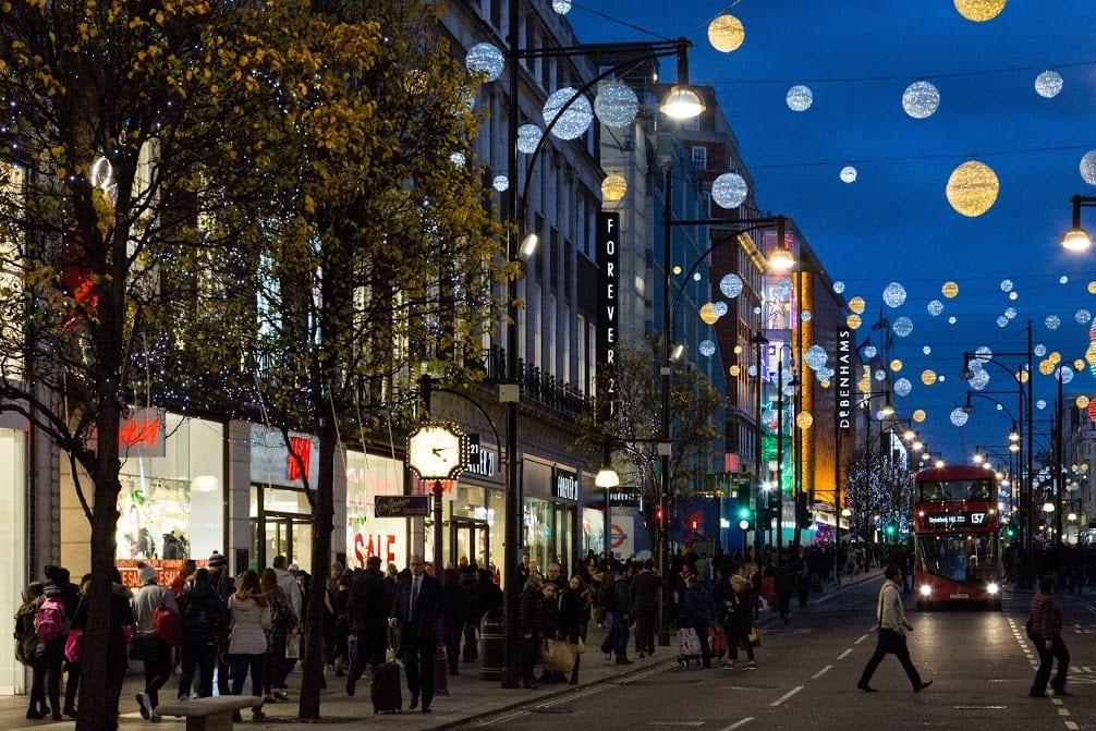 Horario de las tiendas de Oxford Street