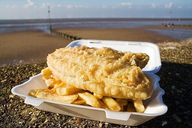Fish and chips rebozado barato