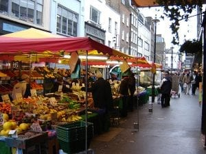 Berwick Street Market nelle strade di Soho