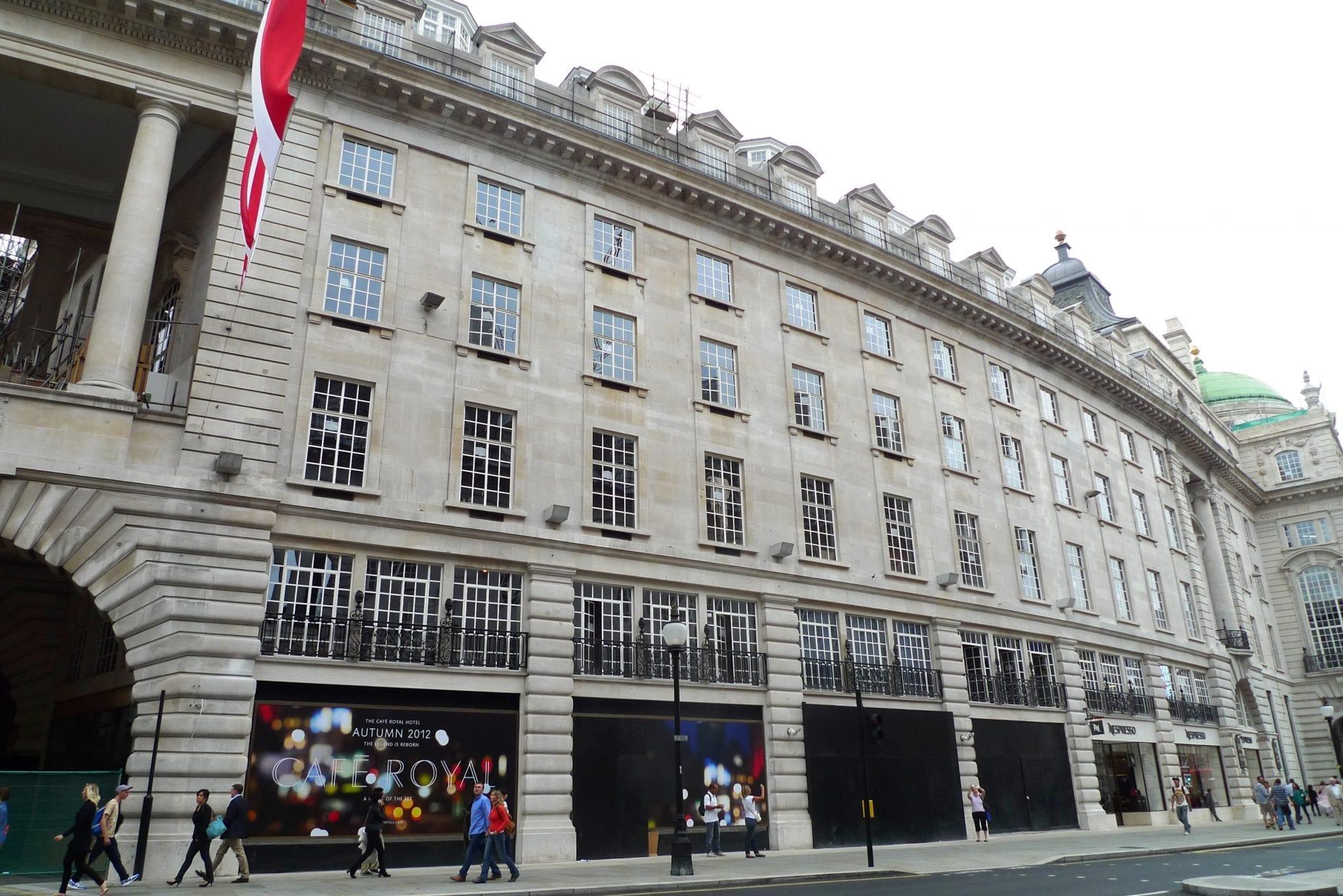 Tiendas en el edificio de Regent Street