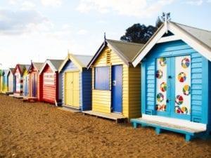 Casetas de colores de Brighton