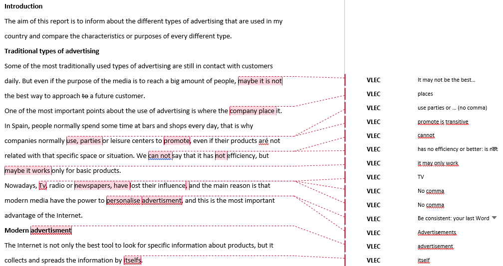 Ejemplo de ejercicios de writing c1: report