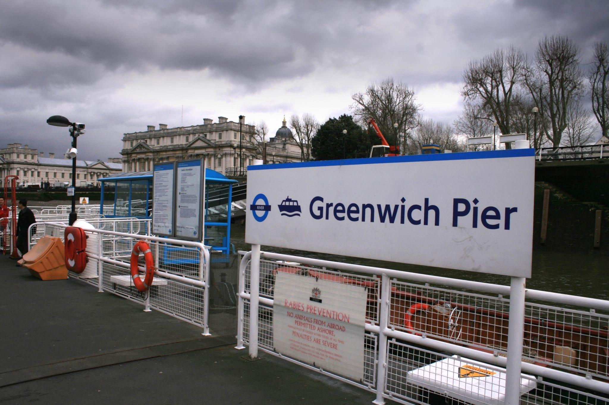 Greenwich pier para ir al clipper Cutty Sark