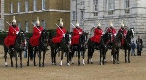 Horse Guard en el cambio de guardia