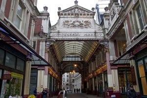 Leadenhall Market en el Londres victoriano